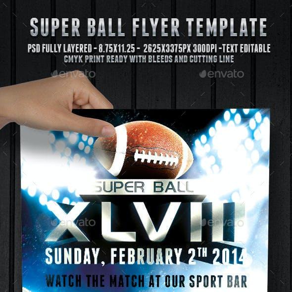 Super Ball Football - Flyer Template