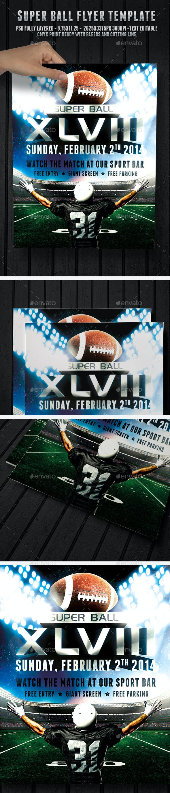 Super Ball Football - Flyer Template - Sports Events