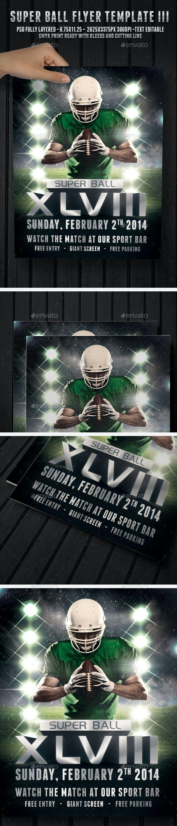 Super Ball Football 3 - Flyer Template - Sports Events