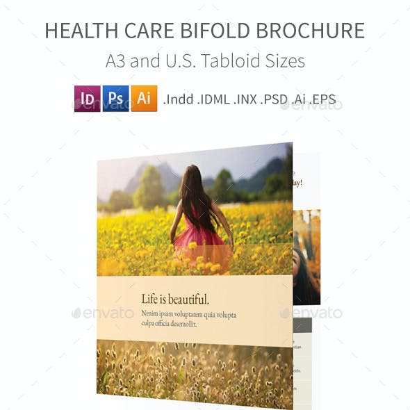 Health Care Bifold / Halffold Brochure
