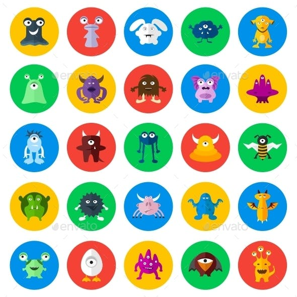 Monsters Circle Icons