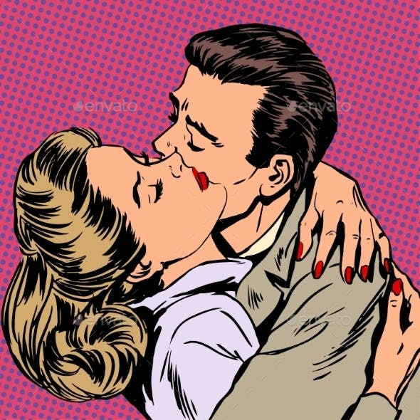 Passion Man Woman Embrace Love Relationship Style