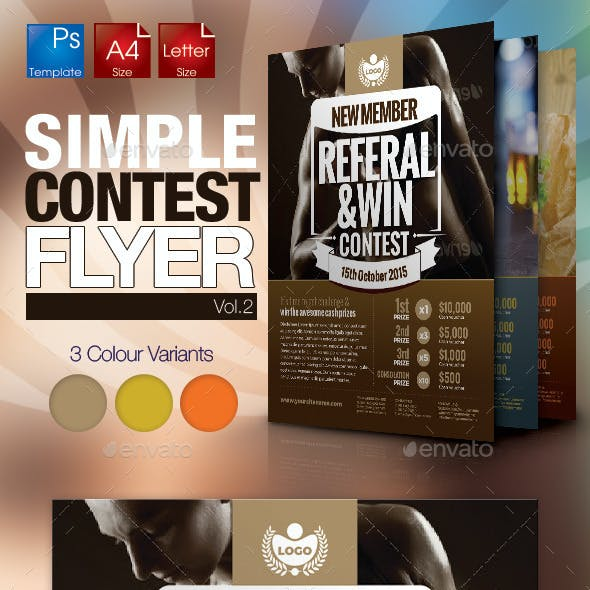 Simple Contest Flyer Vol.02