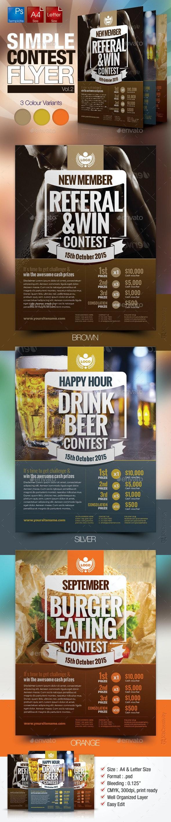 Simple Contest Flyer Vol.02 - Miscellaneous Events