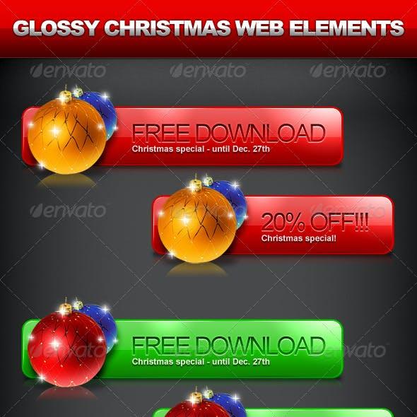 Christmas Web Element - 3 Colors