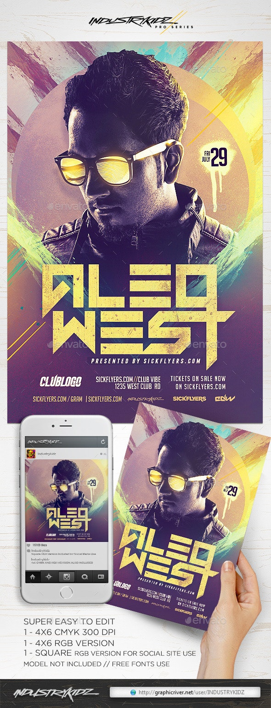 EDM DJ Flyer  - Clubs & Parties Events