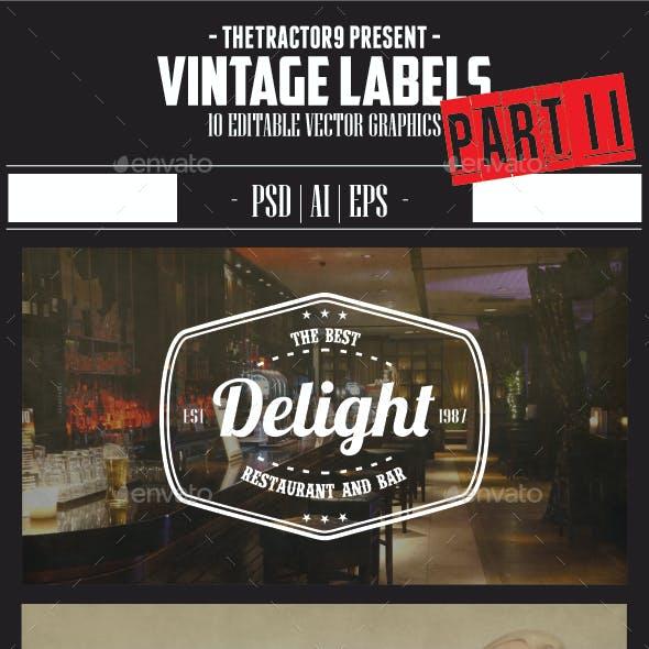 10 Vintage Label and Badges Part II