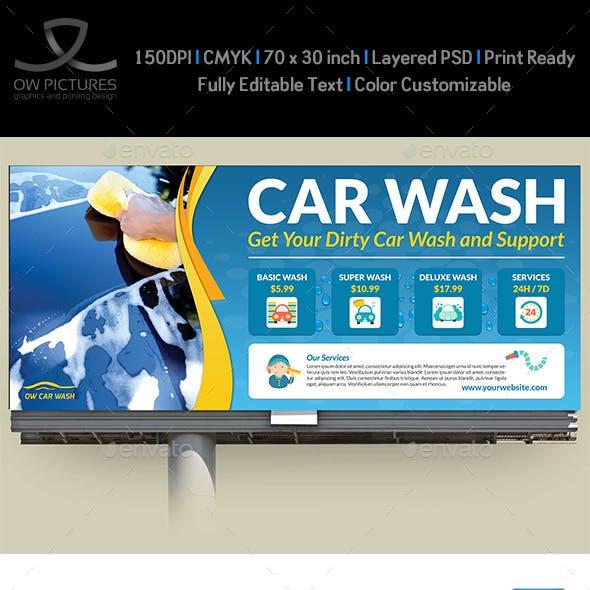 Car Wash Service Billboard