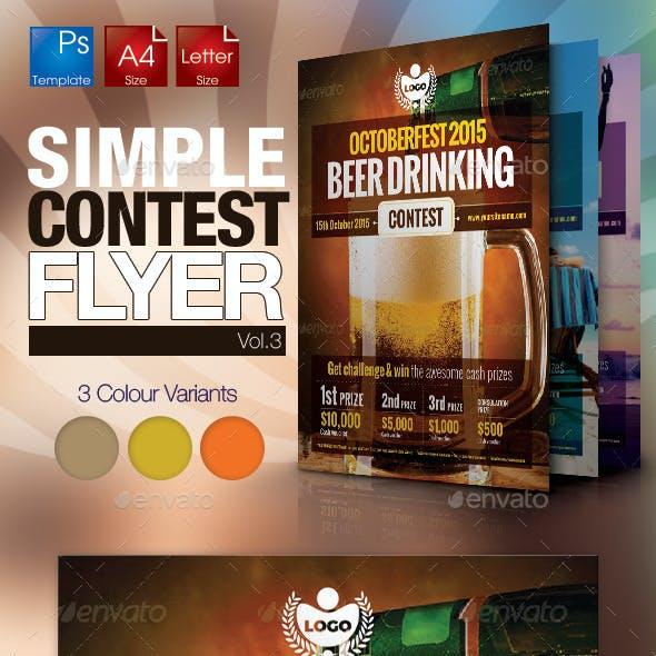 Simple Contest Flyer Vol.03
