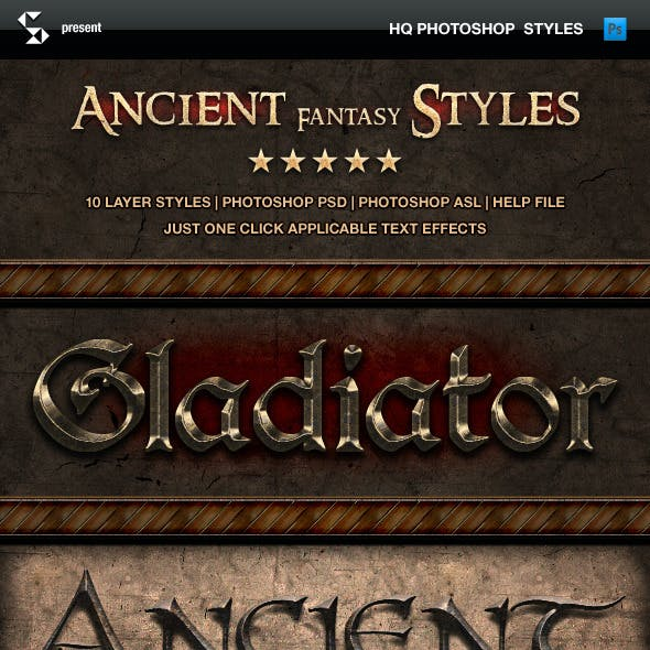 Ancient Fantasy Styles - Epic Text Effects
