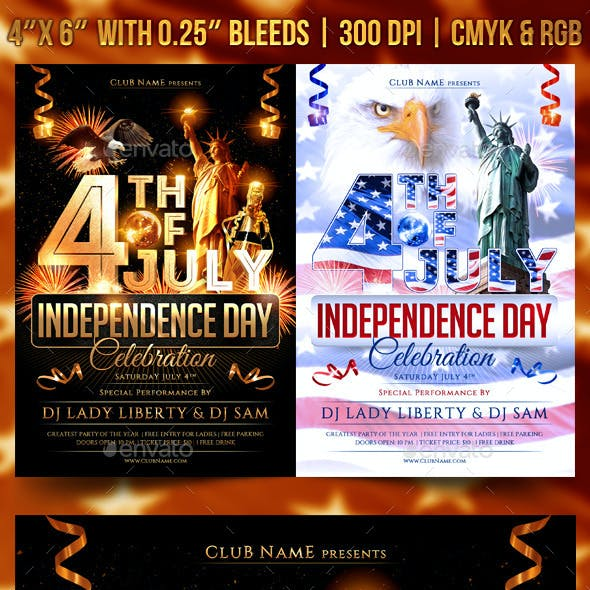 July 4th Independence Day Flyer