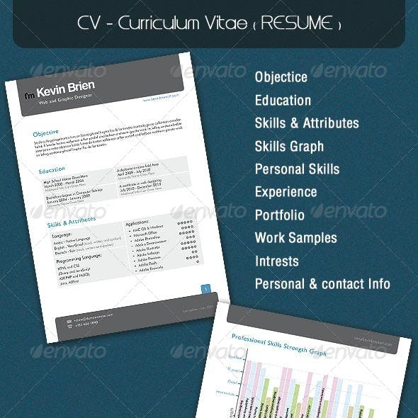 CV - Curriculum Vitae ( RESUME )