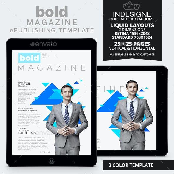 Bold Magazine ePublishing Template