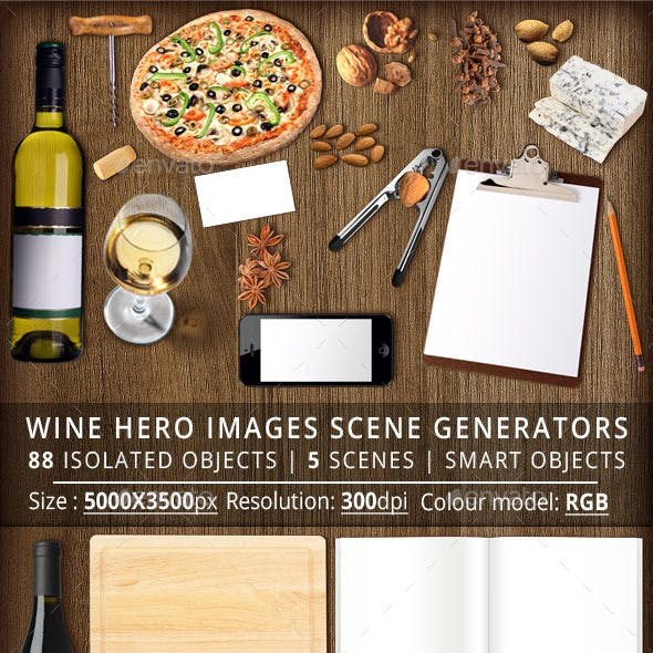 Wine Hero Images Scene Generators