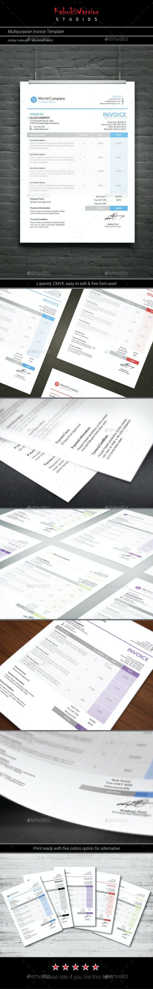 Multipurpose Invoice Template - Proposals & Invoices Stationery