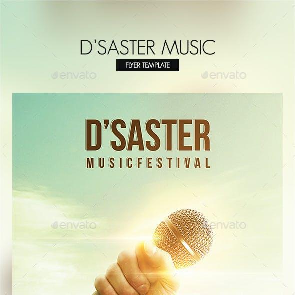 DSaster Music Flyer Template
