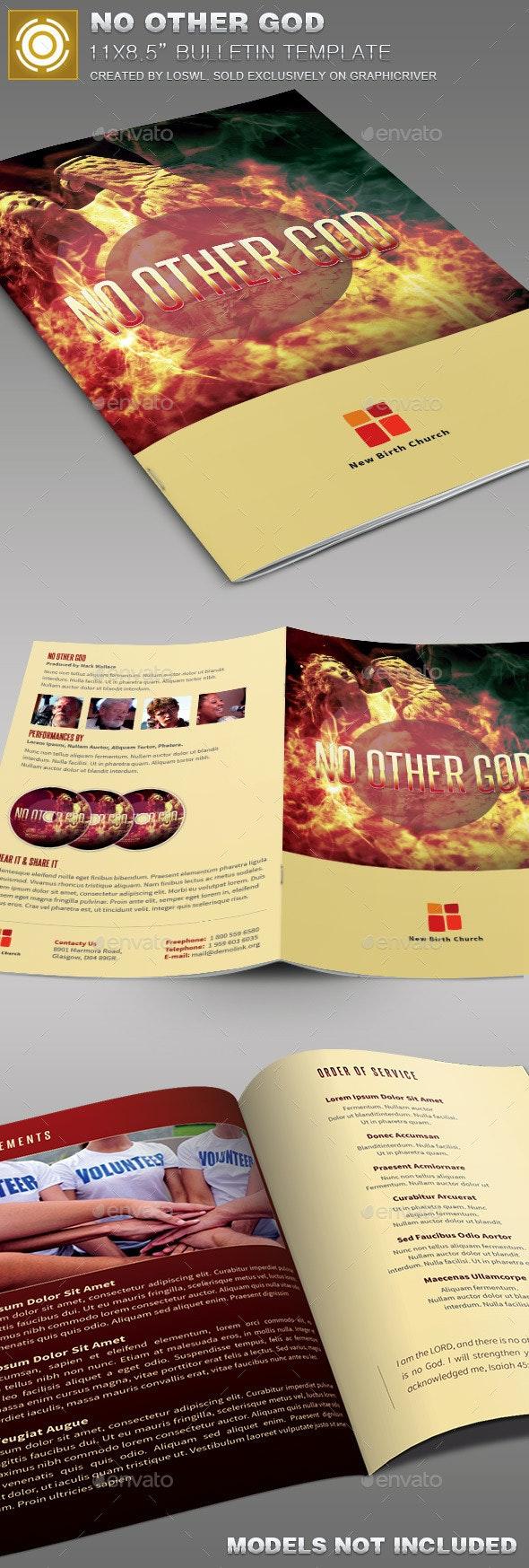 No Other God  Church Bulletin Template - Informational Brochures