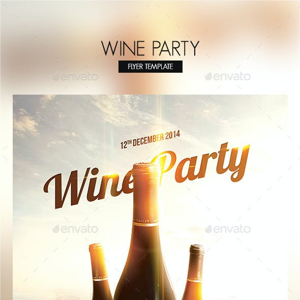 Wine Party Flyer