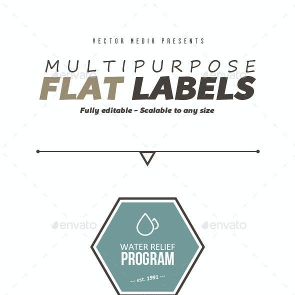 Multipurpose Flat Labels