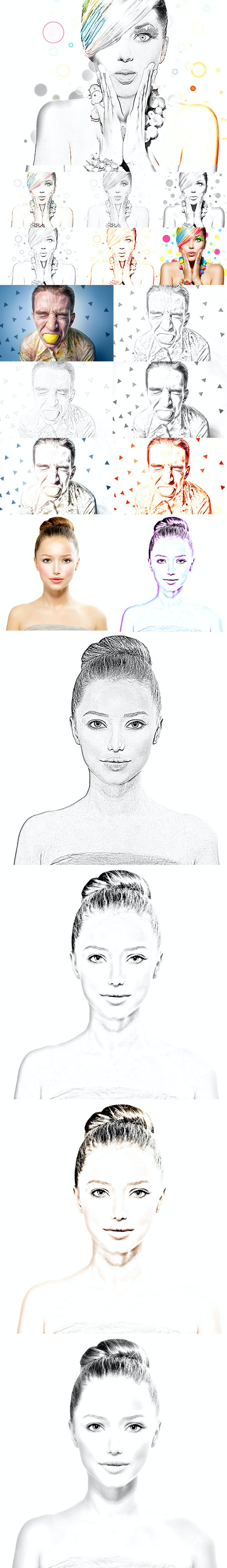 Sketch Action - Actions Photoshop