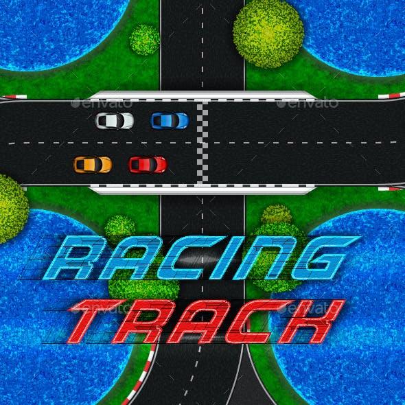 Racing Track. Game Asset