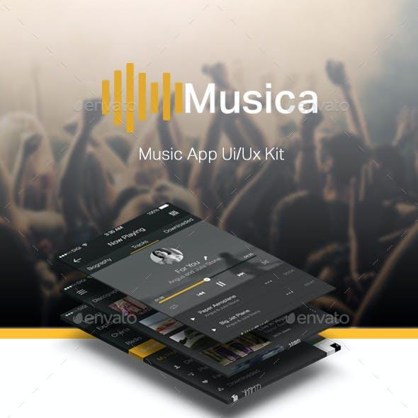 Music App Ui/Ux Kit