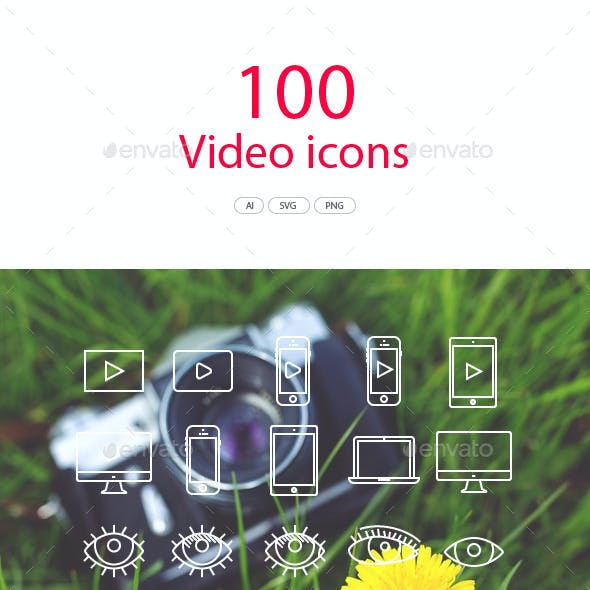100 Video Vector Icons