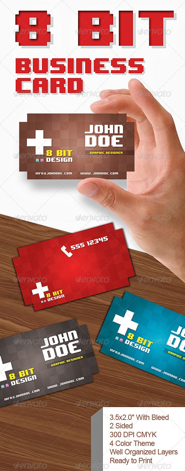 8 Bit Business Card - Creative Business Cards