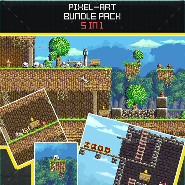 2D Pixel Art Bundle Pack