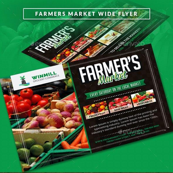 Farmer's Market Commerce Wide Flyer