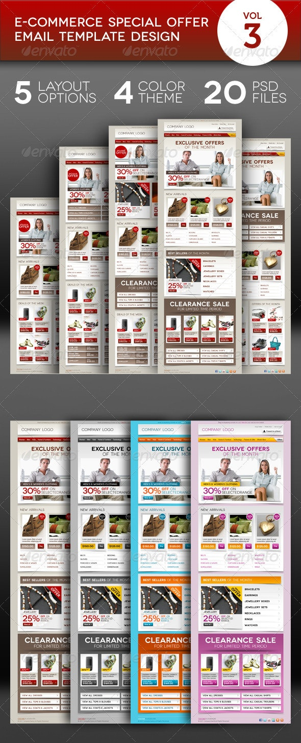 E-commerce Offers Email Template Design Vol.3 - E-newsletters Web Elements