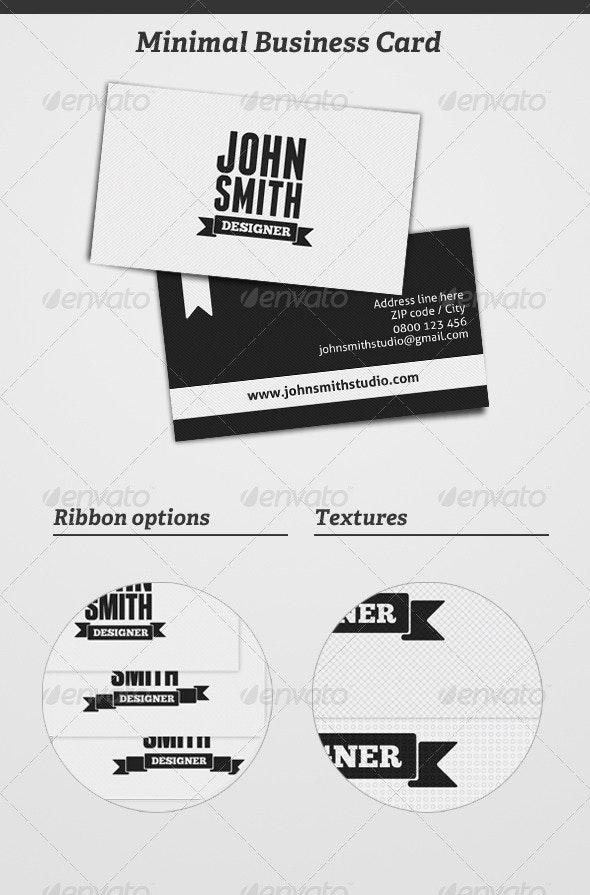 Minimal Business Card - Retro/Vintage Business Cards