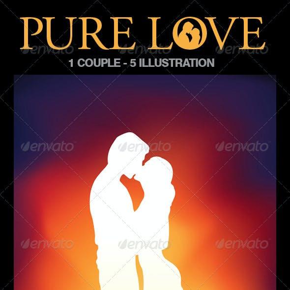 Lovers Illustration Set