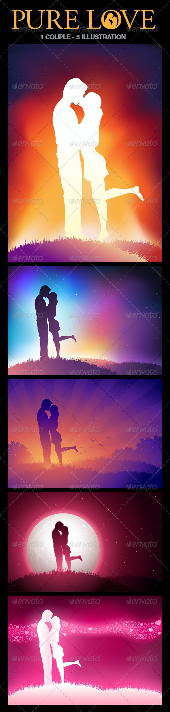 Lovers Illustration Set - Valentines Seasons/Holidays