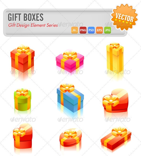 Gift Boxes - Seasons/Holidays Conceptual