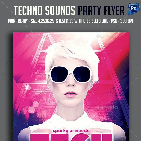 Tech Sounds Party Flyer