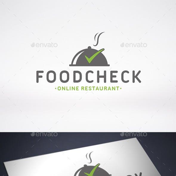 Food Tick Check Mark Logo Template