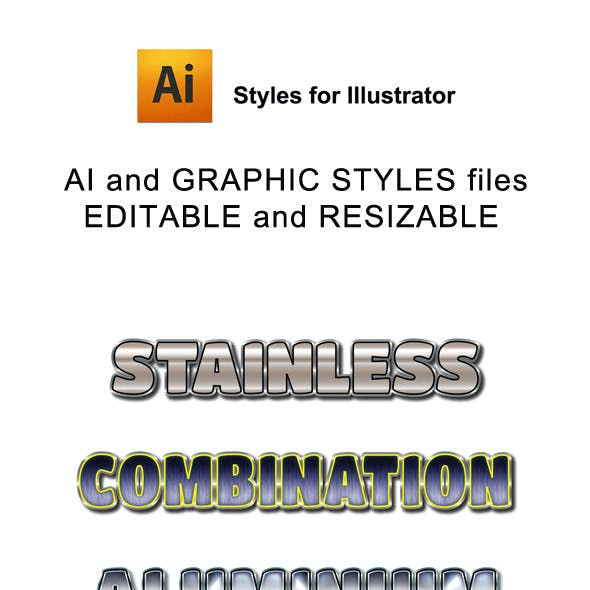 Stainless Graphic Styles for Ai