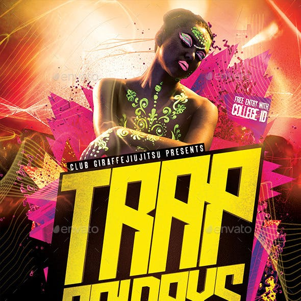 Trap Fridays Flyer Template