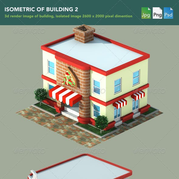 Isometric 3D Render of Building 2