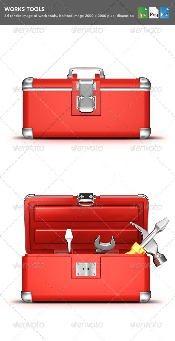 Tools Box  - Objects 3D Renders