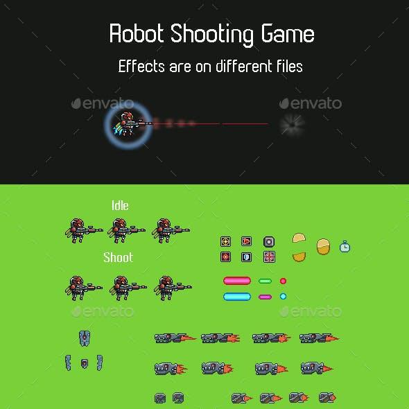Robot Shooting Game Sprite