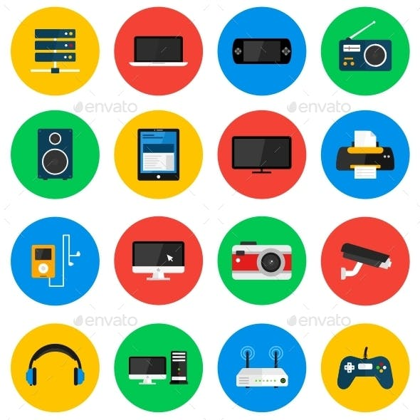 Devices Circle Icons