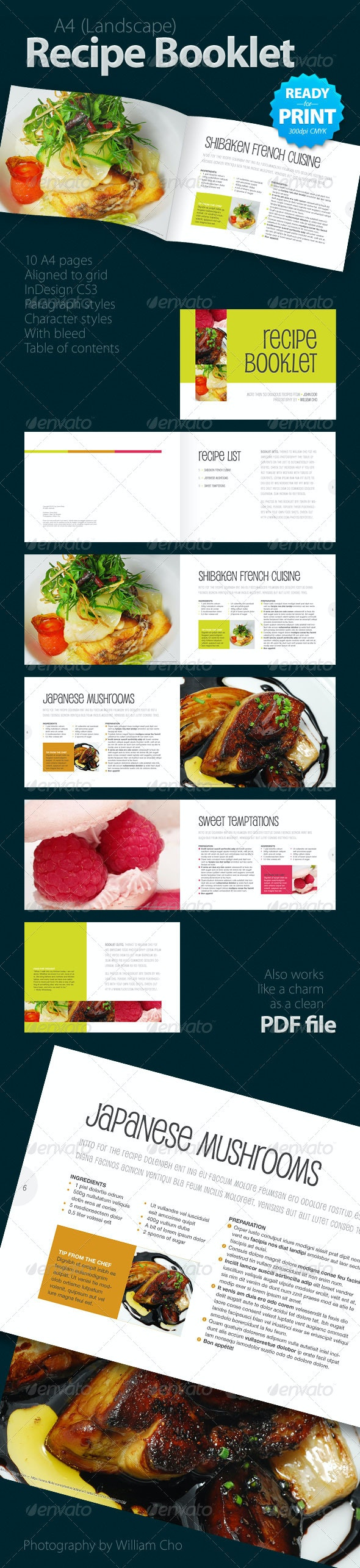 Recipe Booklet (10 pages) - Informational Brochures
