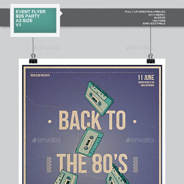 Flyer - Poster: Back To The 80s