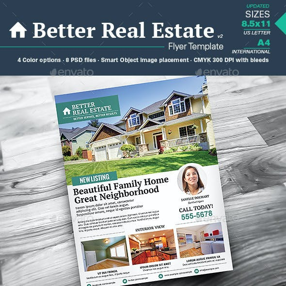 Better Real Estate Flyer Template v2