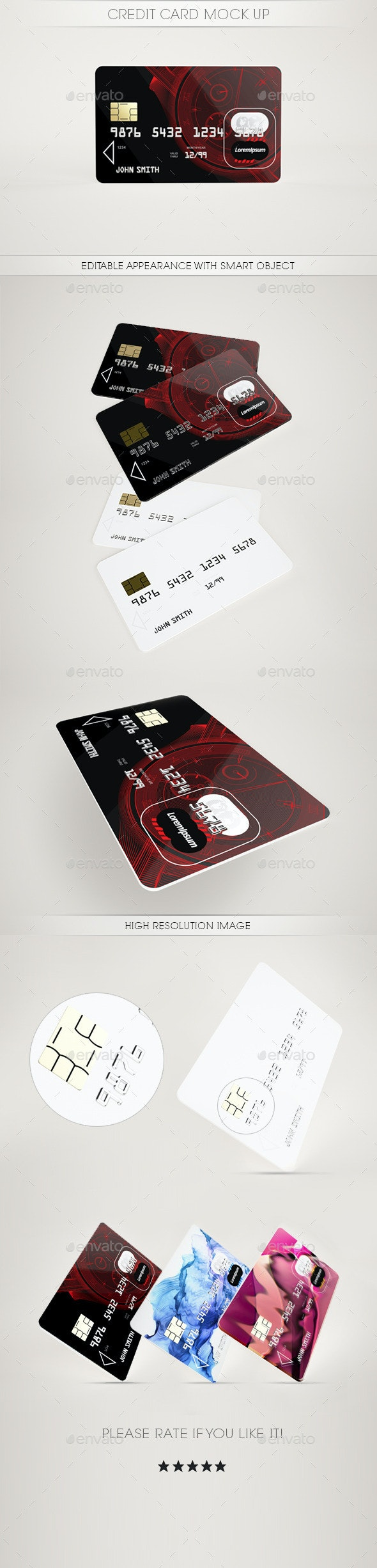 Credit Card Mock Up - Miscellaneous Print