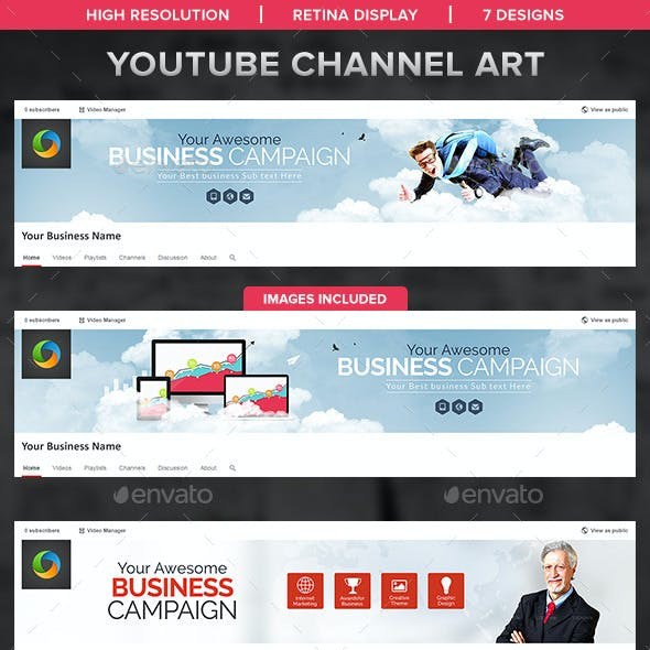 Corporate YouTube Channel Banners  - 7 Designs