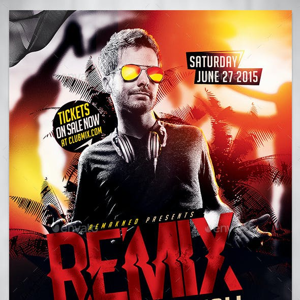 Remix Nightfall | Flyer Template PSD