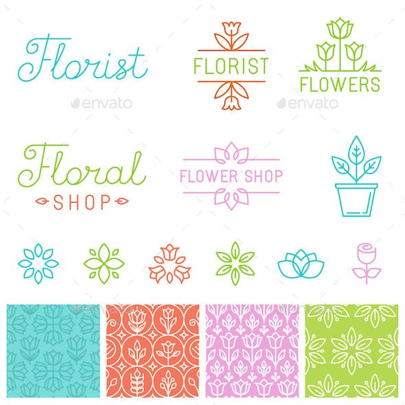Floral Logos and Design Elements